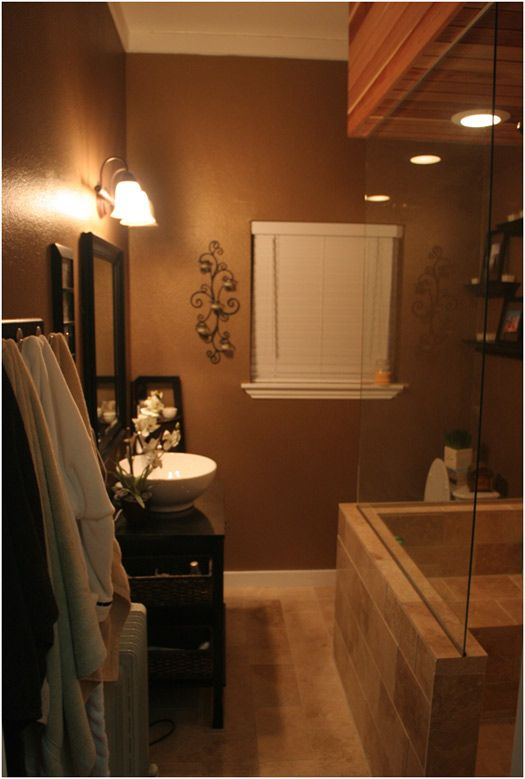 128 best color brown images on pinterest color palettes for Warm bathroom colors
