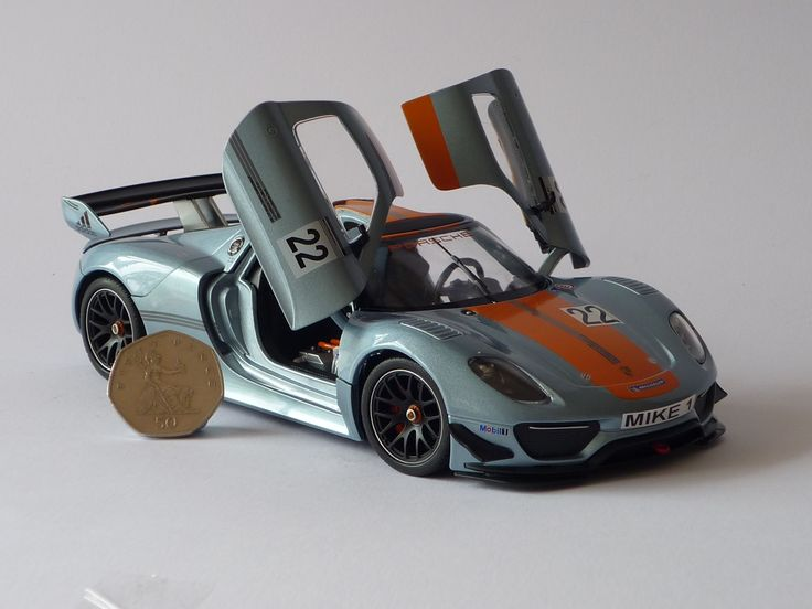 Personalised Plate 1/24 Silver Porsche 918 RSR