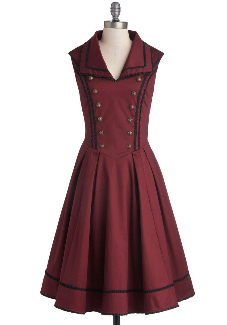 Literary Historian Dress | Mod Retro Vintage Dresses | ModCloth.com Steampunk Military Nautical style