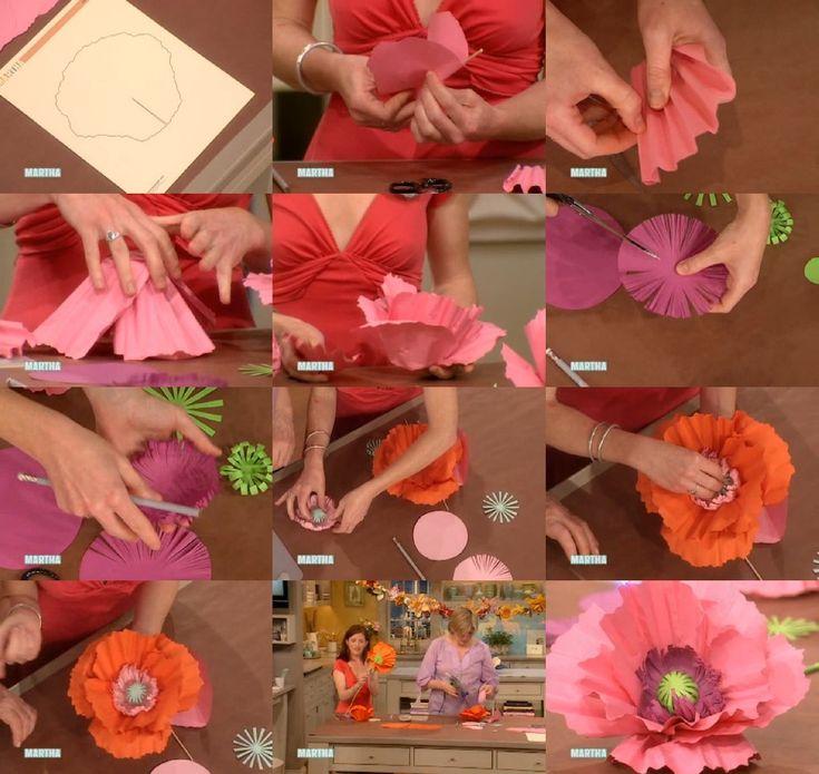 DIY: tutorial per realizzare un fiore di carta gigante