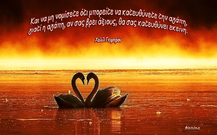 Και να μη νομίσετε ότι μπορείτε να κατευθύνετε την αγάπη,  γιατί η αγάπη, αν σας βρει άξιους, θα σας κατευθύνει εκείνη.  (Χαλίλ Γκιμπράν)