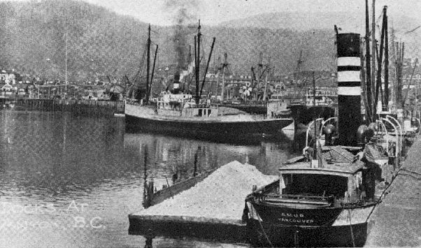 Ships at Dock in Anyox