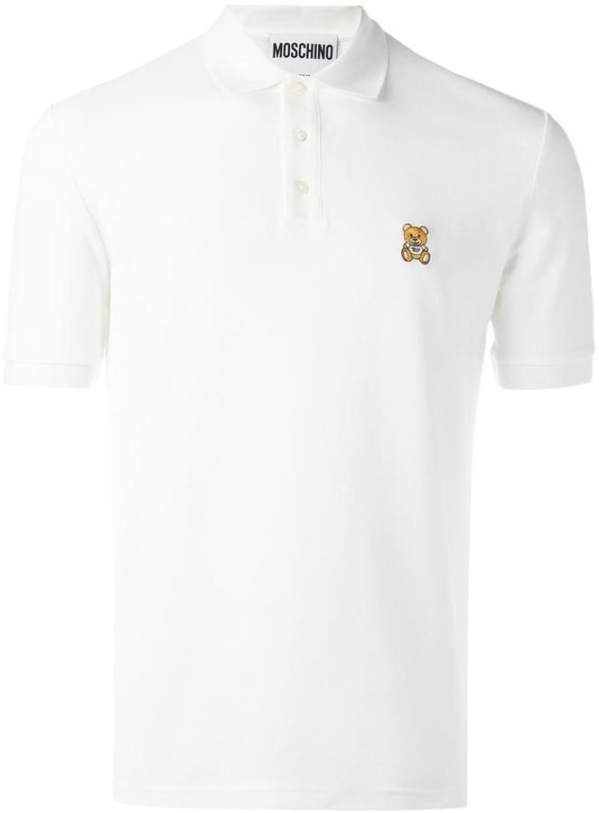 Moschino bear logo polo shirt
