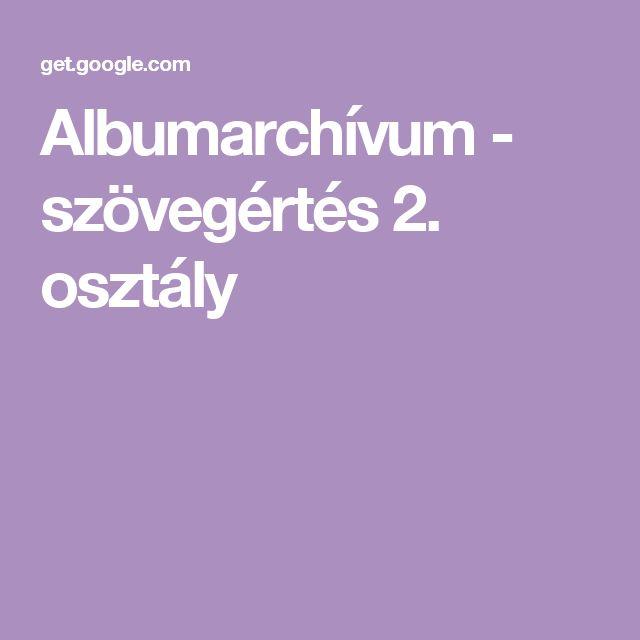 Albumarchívum - szövegértés 2. osztály