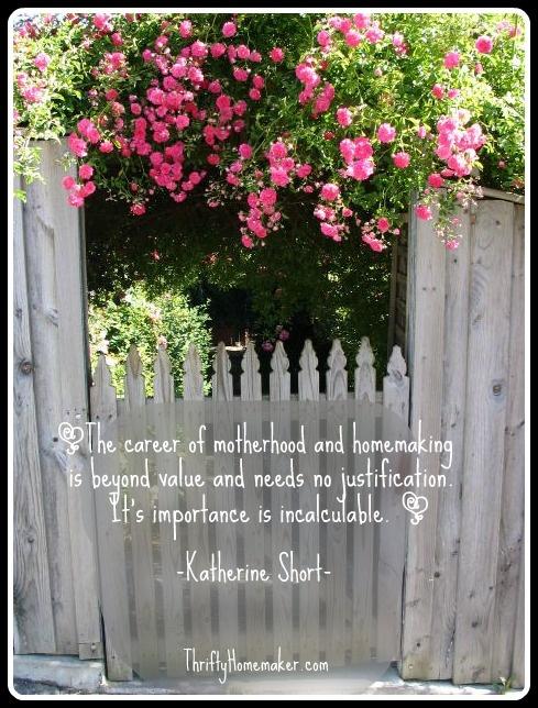 Thrifty Homemaker Homemaking Quote Garden Ideas 2