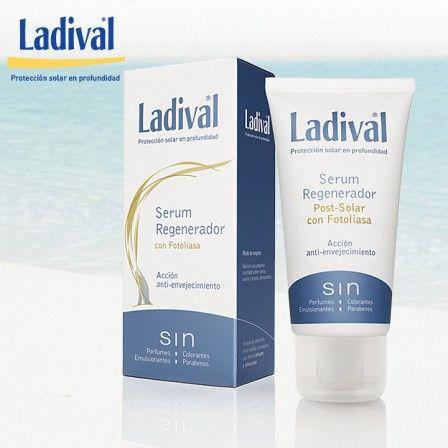 Protector solar con serum regenerador de piel. Sin perfumes ni parabenos http://farmaciajimenez.com/nuestras-marcas/ladival/