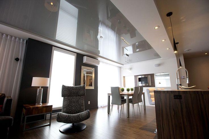 Stretch ceiling. Www.extenzo.ca/residentiel/