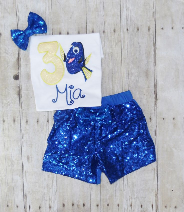 Finding Dory birthday outfit, Dory birthday shirt, Dory birthday tutu, Finding Nemo birthday outfit, Dory birthday invitations by MommaMays on Etsy https://www.etsy.com/listing/464011100/finding-dory-birthday-outfit-dory