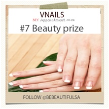 Win amazing prizes on www.bebeautifulsa/facebook.com and LIKE us and follow us on Twitter and register on www.myappointment.co.za
