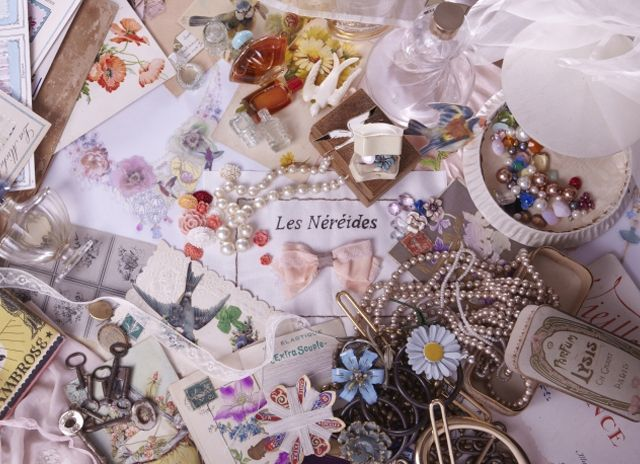 """les nereides costume jewelry... or my favorite page from my old """"i spy"""" book?"""