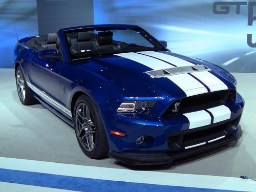 2013 Ford Mustang Shelby GT500 Convertible - 2012 Chicago Auto Show I would really like this in my driveway! My birthday is coming!