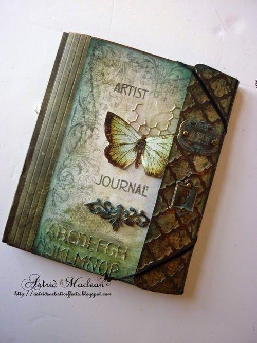 Astrid's Artistic Efforts: Collection Folio Journal in work in Progress