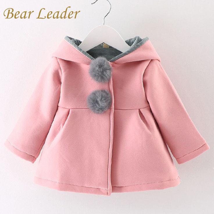 US $ 14.27 Bear Leader Winter Autnmn Baby Girls Coats 2016 Fashion Rabbit Hooded Outerwear Warm Puffer Button Christmas Kids Gifts Parkas aliexpress.com