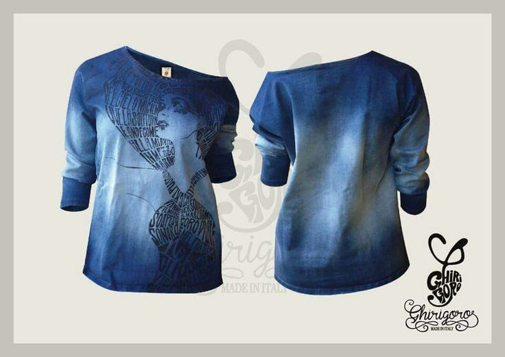 Denim t-shirt Ghirigoro Made In Italy