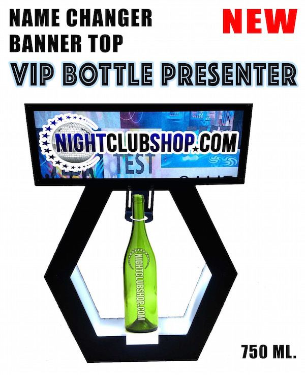 NightclubShop.com - VIP BANNER TOP - VIP BOTTLE SERVICE DELIVERY PRESENTER - Name Changer Letter Box Tray, $549.99 (http://www.nightclubshop.com/vip-banner-top-vip-bottle-service-delivery-presenter-name-changer-letter-box-tray/)
