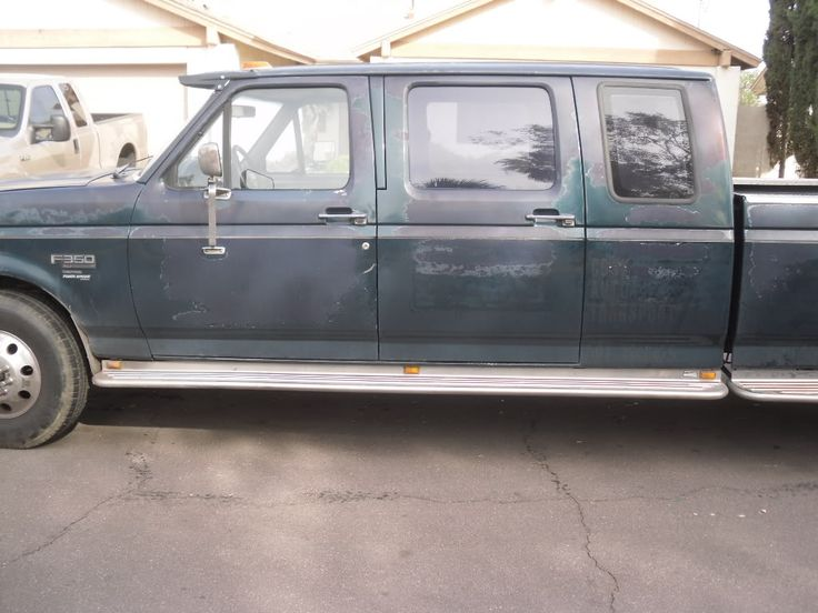 F350 Extended Crew Cab Conversion 1994 Ford F350 Diesel