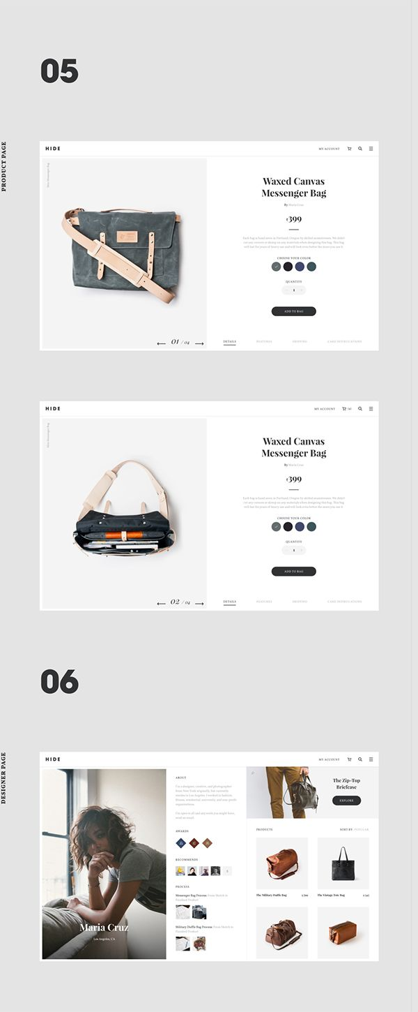 Hide - Ecommerce Bag Design Concept By.Vivek Ravin