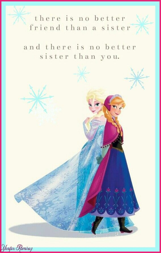 Frozen sisters quote Frozen hermanas frase