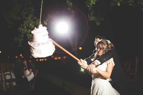 Don't cut the cake - break it! Wedding cake piñata! Unconventional But Totally Awesome Wedding Ideas - Wedding Party