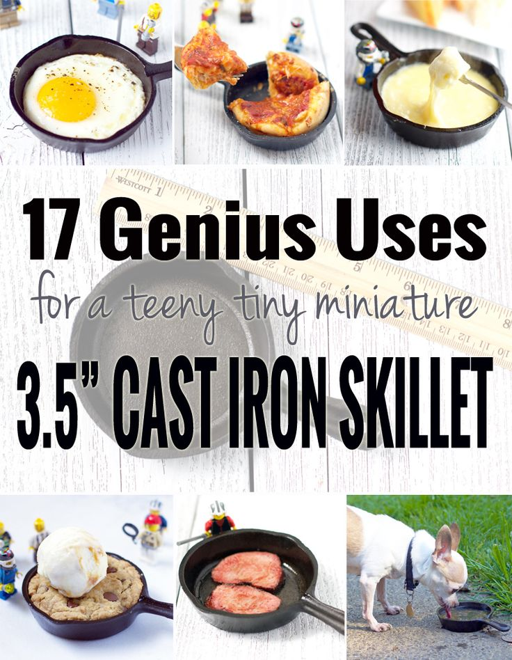 """Ever wonder what you could do with a miniature 3.5-inch cast iron skillet? This past Christmas my mom gave me one. A super teeny tiny miniature cast iron skillet. It is small. Really small. Like 3.5 inches wide small. It's just like this Lodge miniature skillet. We teased her endlessly about the pan. """"Mom, seriously,...Read More »"""