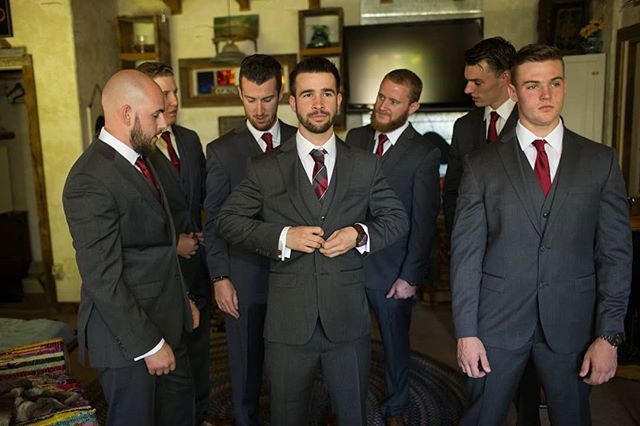 Christopher and his groomsmen lookin' dapper ( Photographer