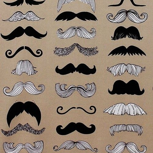 mustache alexander henry 1 yard fabric by thecraftytree on etsy, $9.00 by josephine
