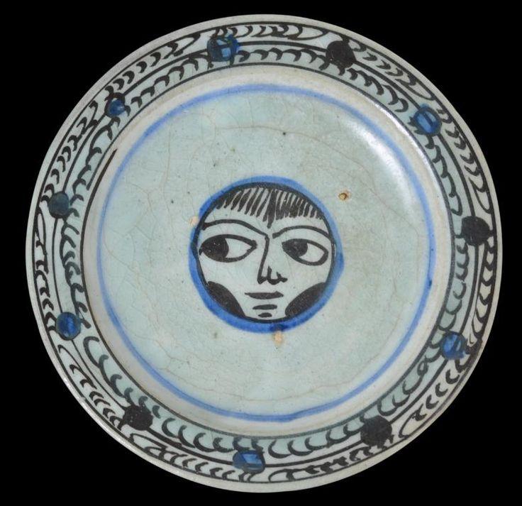 Zand Qajar Faience Glazed Earthenware Plate Iran 18th 19th