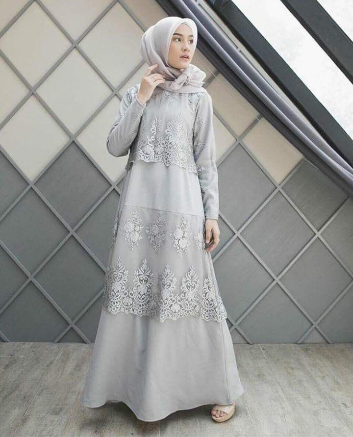 Model Baju Brokat Warna Abu 10