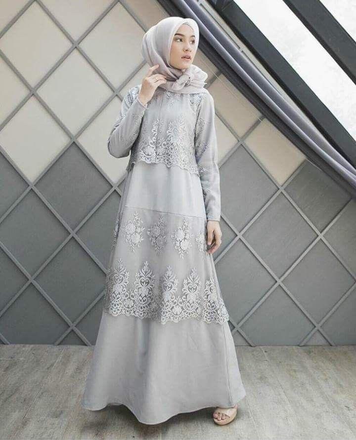 Baju Abu Abu Cocok Jilbab Warna Apa