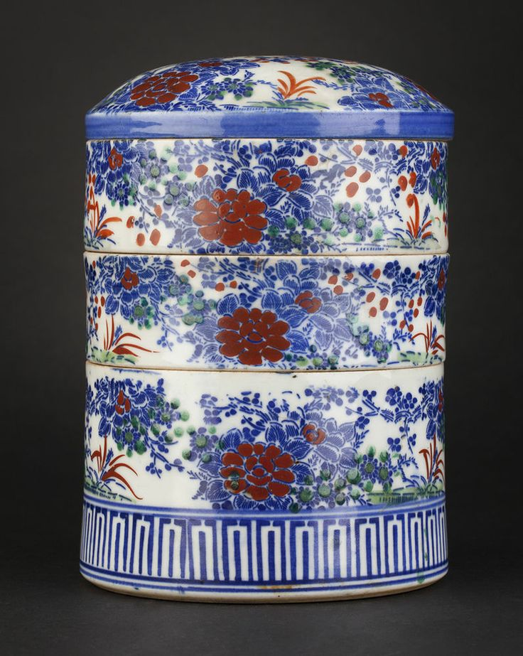 UNUSUAL ANTIQUE CHINESE LIDDED PORCELAIN FOOD STORAGE CONTAINER 19TH C.