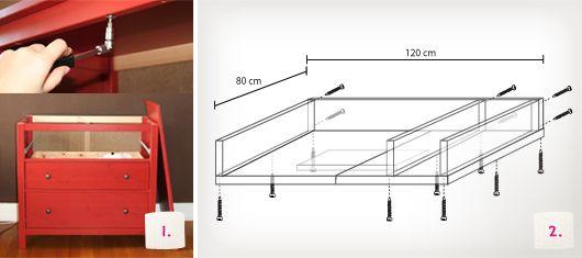 Wickeltischaufsatz für Ikea Kommode selberbauen – Schritt 1-2