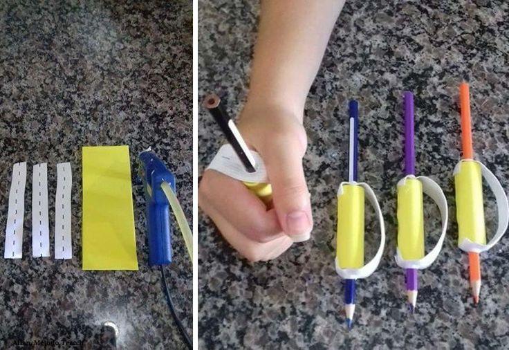Low cost adaptation for quadriplegics - pencils or makeup brushes