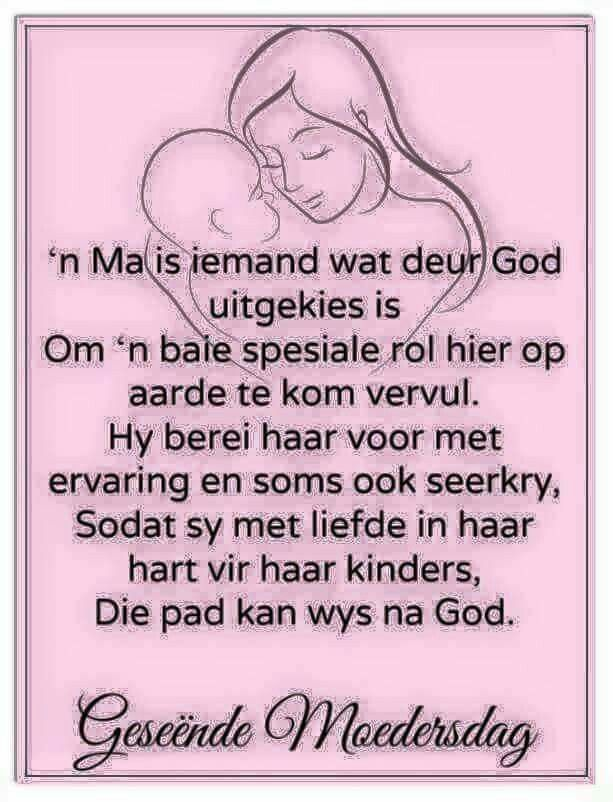 n Ma is iemand wat deur God uitgekies is ....