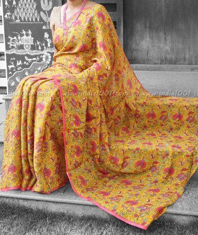Elegant Chiffon Silk Saree