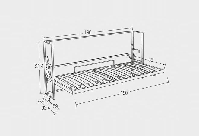 Meccanismo Letto A Scomparsa.Elt Murphy Bed Hidden Bed Diy Bed