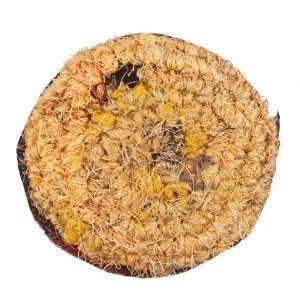 Circular Silk and Jute Coin Purse