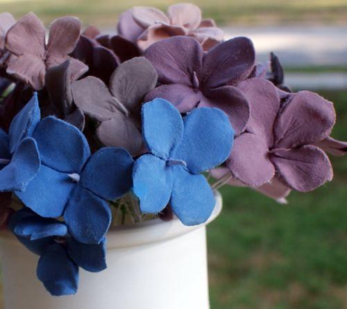 Beautiful ClayHydrangeas5 using Martha Stewart clay