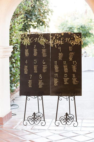 Display the menu or program on a canvas or in a frame as opposed to printing one for each guest. Trust us, it'll be totally cost effective.