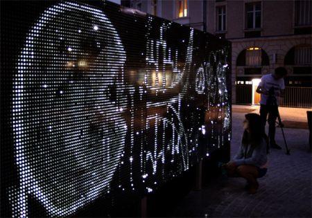 Water Light Graffiti system—water illuminates LED lights