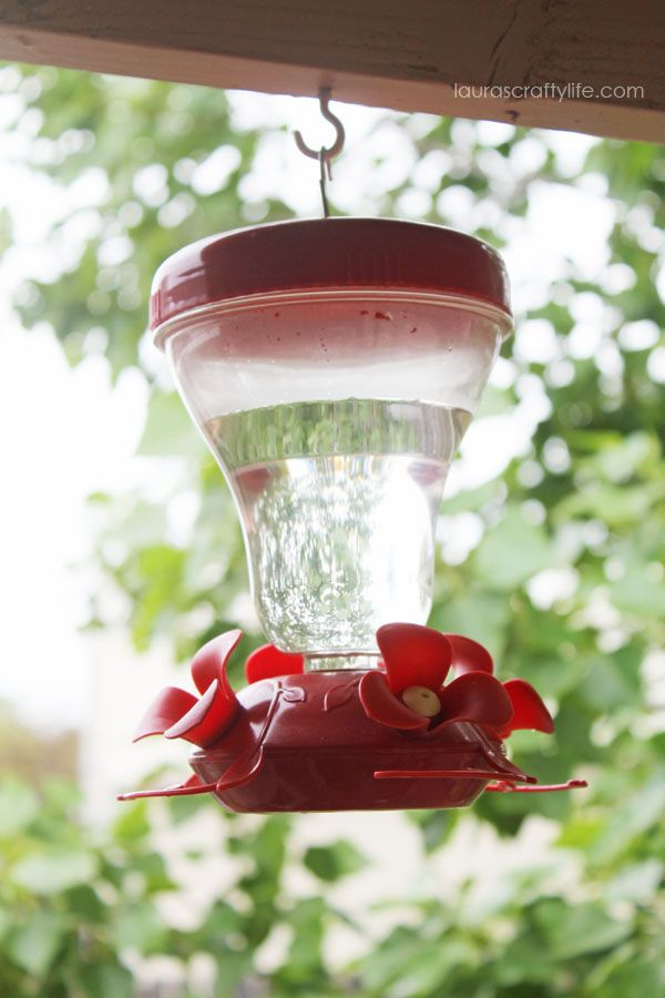 Make Your Own Hummingbird Feeder Food. Save money and make your own food to refill your hummingbird feeder. Only two simple ingredients and about 5 minutes to make!