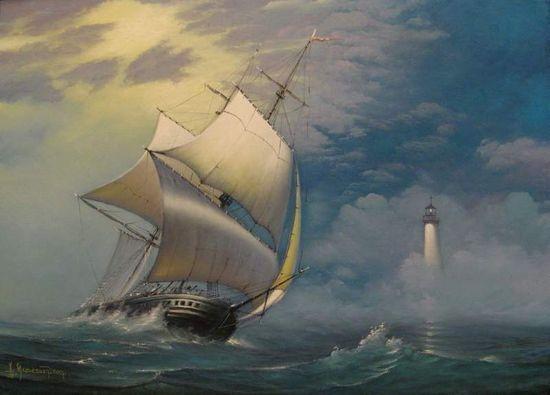 Маяки в живописи / море, живопись, маяк, маякоманьяк