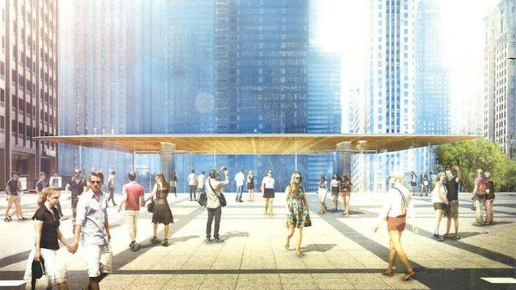 Nova Apple Store de Chicago é inspirada nas casas de pradaria de Frank Lloyd Wright,via MacRumors