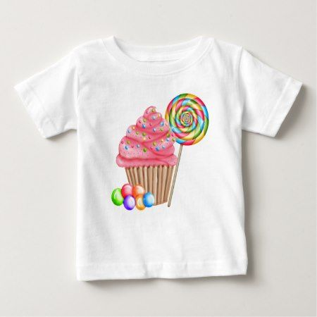Cupcakes and Candy Birthday T Shirt - tap to personalize and get yours
