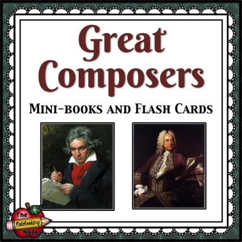 Great Composers Mini-books and Flash Cards