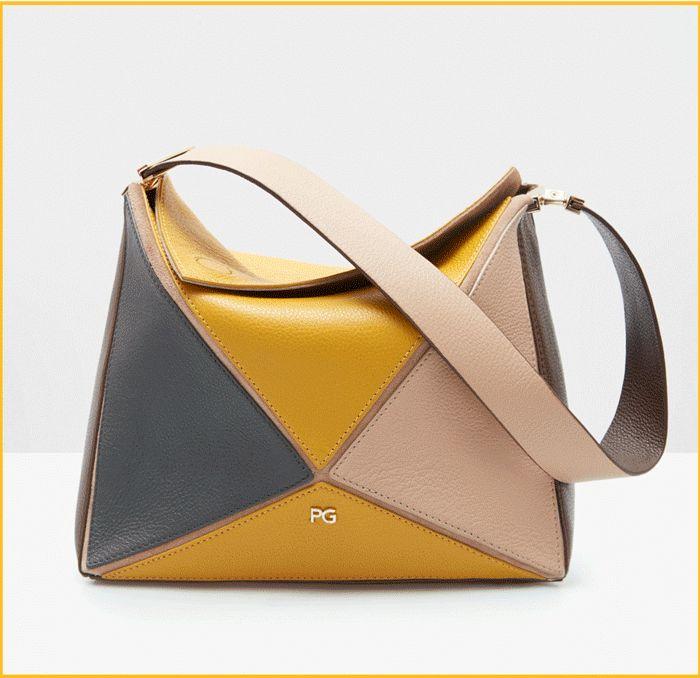Juegos geométricos, la colección de bolsos Tangram de Purificacion Garcia