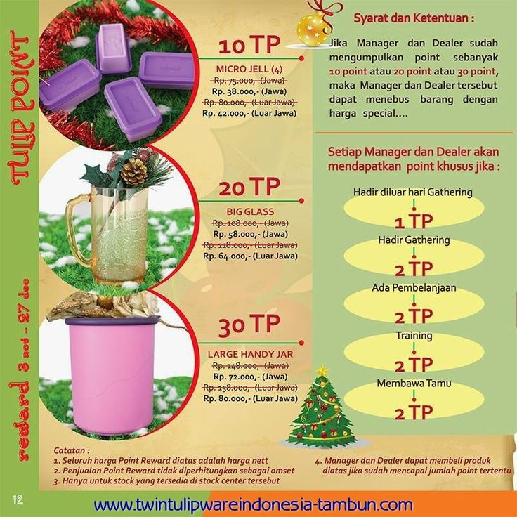 Tulip Point Reward | November - Desember 2014