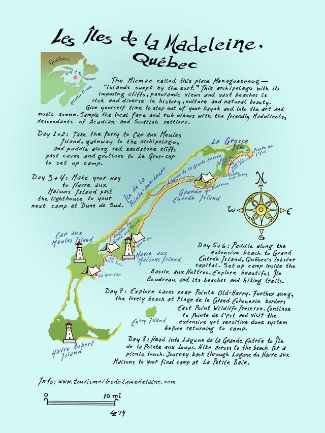 Iles de la Madeleine map