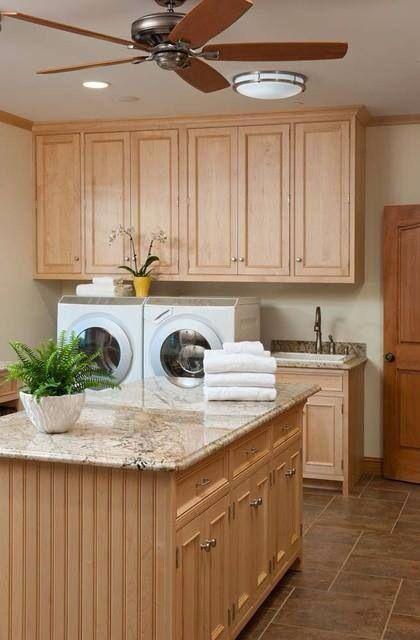 Large laundry room with island home large laundry - Large laundry room ideas ...