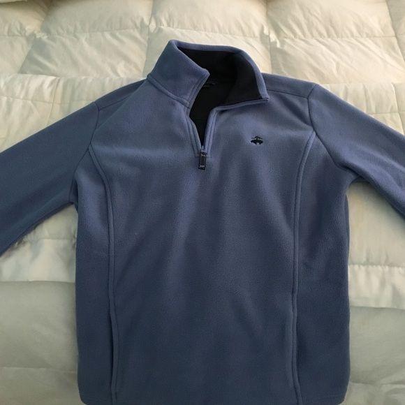 Brooks brother fleece Medium brooks brothers blue fleece, worn once Brooks Brothers Sweaters