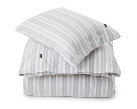 Gray/White Pin Point Stripe Duvet
